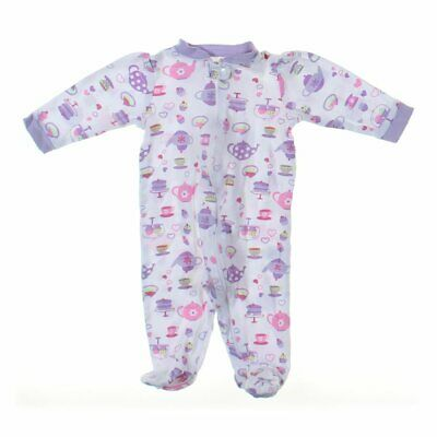 bf651b11 RALPH LAUREN BABY Girls Footed Pajamas, size 3 mo, pink, cotton ...