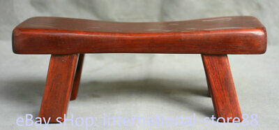 8.8 inch Old Chinese Redwood Carving handwork Small Footstool Stool