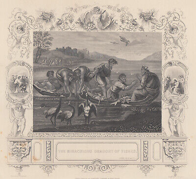 The  miraculous draught of fishes. La pesca miracolosa.Acquaforte 1830-1850