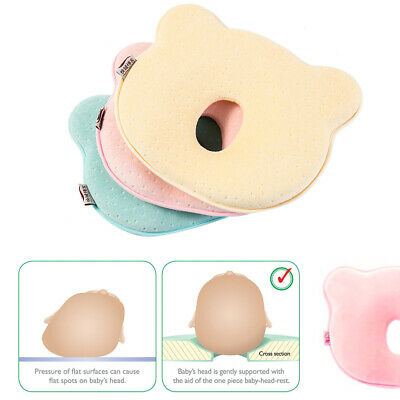 NEW Baby Cot Soft Pillow Prevent Flat Head Memory Foam Cushion Sleeping Support