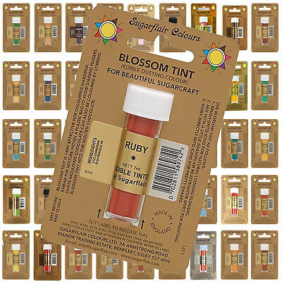 Sugarflair Blossom Edible Petal Dusts Food Colour Powder- Sugarcraft Cake Tints
