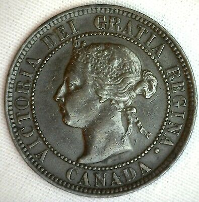 1901 Copper Canadian Large Cent Coin 1-Cent Canada XF #3