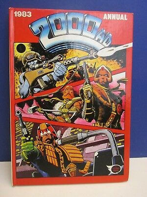 old vintage JUDGE DREDD 2000AD ANNUAL STORY BOOK 1983 HARDBACK fleetway 54z