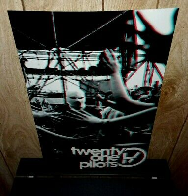 Twenty One Pilots tour poster 3D concert poster Emotional Roadshow Trench NEW