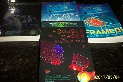 Malcolm Rose In Traces, 4 Book Forensic Investigator Books, Great Thriller Books