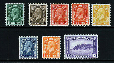 CANADA King George V 1932-1934 The Complete Set SG 319 to SG 325 MINT