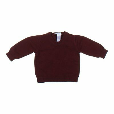 Janie and Jack Baby Boys Sweater, size 3 mo,  maroon,  cashmere, cotton