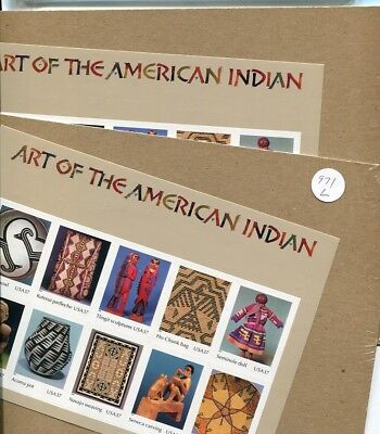 Art Of The American Indian   Scott #3873  .37 10  Stamp Sheet Sealed Mnh