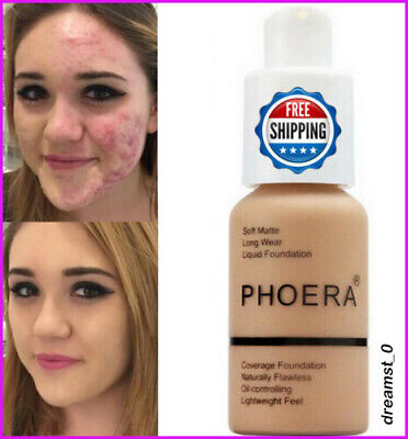 PHOERA Makeup Soft Matte Full Coverage Cream Flawless Coverage Liquid Foundation