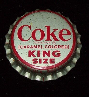 VINTAGE 1960'S COKE King Size Unused Soda Pop Bottle Cap Cork Lined