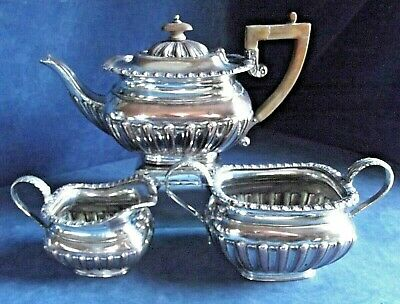 Antique GEORGIAN ~ Sheffield SILVER Plate ~  Ornate TEA SET ~ c1820