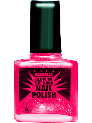 80S ROCK STAR Punk Princess Neon Pink Fingernail Black Light