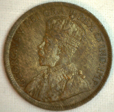 1919 Copper Canadian Large Cent Coin 1-Cent Canada AU #4