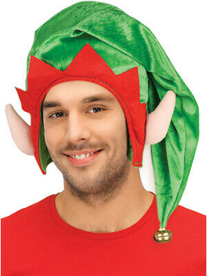 a8fbf4687d30f Adults Christmas Santa s Toy Shop Elf Green Hat With Ears Costume Accessory