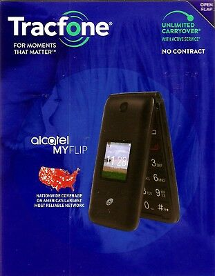 TRACFONE ALCATEL MYFLIP A405DL Cell Phone Brand New Factory Locked in  Sealed Box