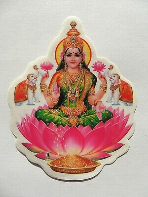 Window Hindu Sticker * LAKSHMI * 11.7cm x 9.2cm (D-667) Double Sided