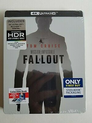 MISSION: IMPOSSIBLE FALLOUT 4K STEELBOOK (4K UHD + Blu-Ray + Digital Copy) New