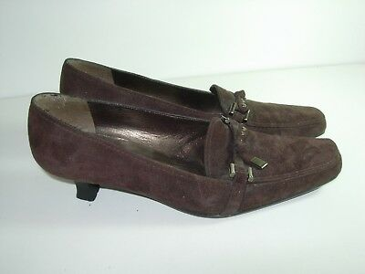 232b8ae0eb3 Womens Brown Suede Loafers Stuart Weitzman Heels Career Comfort Shoes Size  7.5 M