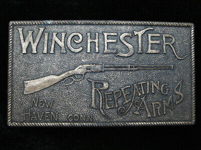 QI03117 VINTAGE 1970s **WINCHESTER REPEATING ARMS** GUN & FIREARM BELT BUCKLE