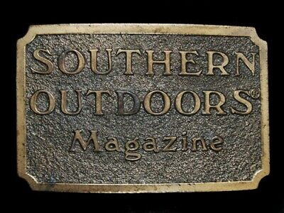Ne11116 Vintage 1982 **Southern Outdoors Magazine** Great American Belt Buckle