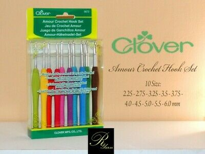 Clover Amour Crochet Hook Set 3672 - 10pc BRAND NEW-FREE SHIPPING!