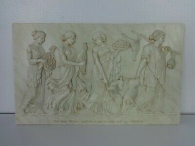 Ancient Greek Bas Relief Resin Reproduction Womens Of The Seasons Vintage Art