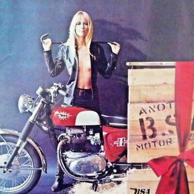 "1967 BSA Birmingham Small Arms Motorcycle ""Ready to Display""Jill Blank 1968 1969"