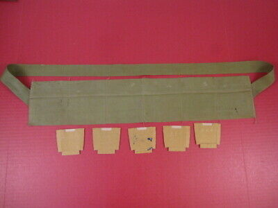 post-WWII US Army Cloth Bandolier Repack Kit M1 Garand .30 Cal OD Green 1952 #2