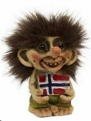 Nyform Norway Seafaring Troll in Viking Ship with Moose Figure NEW