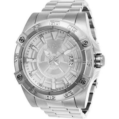 Invicta Pro Diver 27014 Men's 52mm Silver-Tone Automatic Watch with Silver Dial