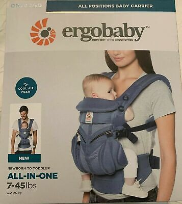 NEW ERGOBABY 360 OMNI COOL AIR MESH ERGO BABY Carrier Oxford Blue colour