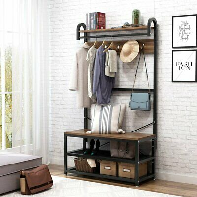 Peachy Coat Rack Entryway Hall Tree Storage Bench Mahogany Wood Hat Ibusinesslaw Wood Chair Design Ideas Ibusinesslaworg