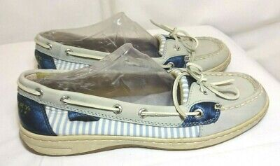 03b220b3f570 Sperry Top-Sider Angelfish Boat Shoes Blue & White Striped.# 9102682 9.5M