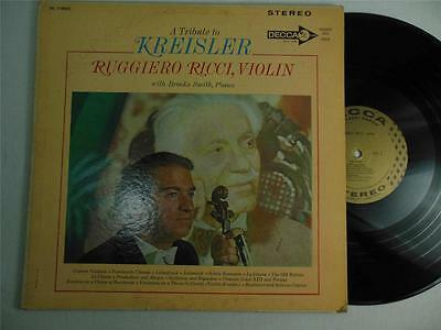 A Tribute To Kreisler Ruggiero Ricci Decca Gold Label Stereo DL 710052 Sample