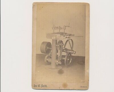 Lot: (3) Vintage1880's Cabinet Card Patent Studies of Machinery Romeo Michigan
