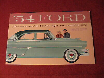 1954 Ford Dealer Showroom Sales Brochure Book  Old Original  Booklet Catalog