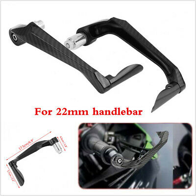 """2pcs Carbon Fiber Brake Clutch Lever Protector Guard For Motorcycle 22MM 7/8"""""""