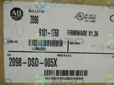 Allen Bradley Ultra 3000I 2098-Dsd-005X Ser. B Servo Drive * New In Box *