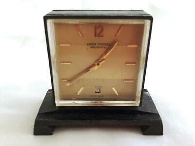 Collectable Vintage Louis Rossel Neuchatel Swiss Small Desk Watch