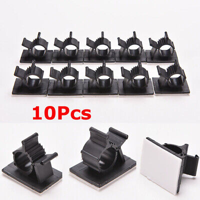 10Pc Cable Clips Adhesive Cord Management Wire Holder Organizer Clamp Fastener