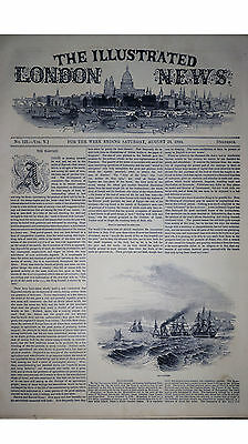 Historical 1844 Augus 24 The Illustrated London News Newspaper Not a Reprint
