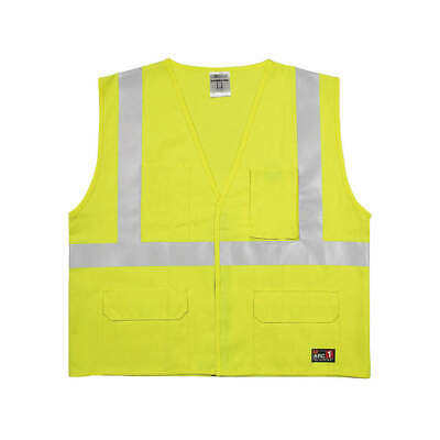 High Visibility Vest,Yellow/Grn,4XL/5XL