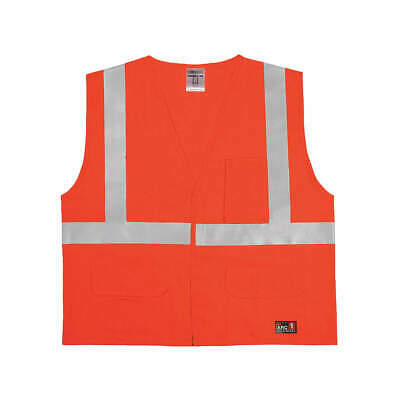 High Visibility Vest,Orange/Red,4XL/5XL