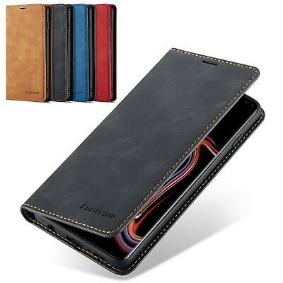Luxury Leather Card Holder Flip Case Covers for Samsung Galaxy Note 9 S10 S9 S8