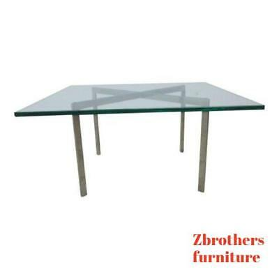 Vintage Chrome X Base Floating Coffee Table