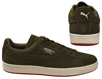 new products 36bbb 5b160 PUMA SUEDE CLASSIC Soft Lace Up Mens Low Top Trainers Olive 365705 03 D73