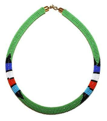 African Maasai Masai Beaded Boho Necklace - Kenya Jewelry #03