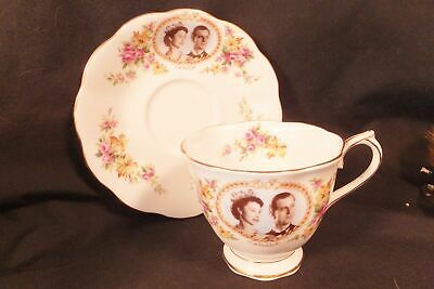 Royal Albert ROYAL VISIT COMMEMORATIVE cup & saucer 1959