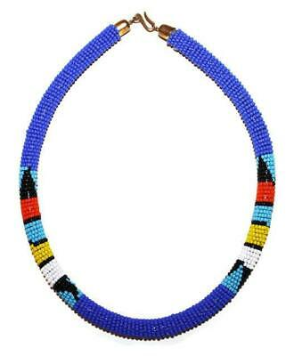African Maasai Masai Beaded Boho Necklace - Kenya Jewelry #04
