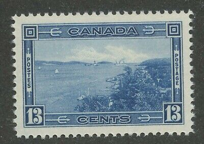 Canada 1938 Halifax Harbour 13c deep blue #242 VF MNH